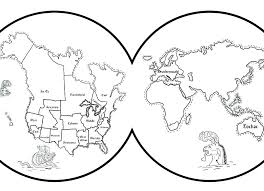 Free Printable World Map Coloring Pages Page For Kids Best Fo North