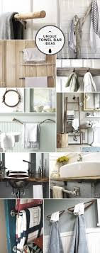Unique Ideas for Bathroom Towel Bars and Racks