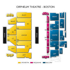 Orpheum Boston Interactive Seating Chart Best Picture Of
