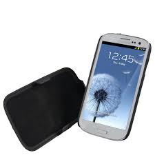 samsung galaxy s3 black. igadgitz black rubberised hard case with detachable stand \u0026 belt clip for samsung galaxy s3 iii