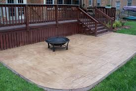 Innovation Concrete Patio Designs Stamped A On Perfect Design