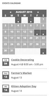 event calendar events calendar widgets the events calendar