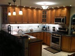 Brown Kitchen Cabinets Homely Ideas 16 28 Lighting HBE Kitchen