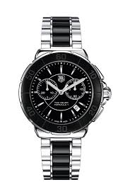 tag heuer formula 1 chronograph ladies black ceramic bracelet watch