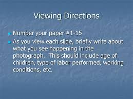 the effects of the industrial revolution objective identify viewing directions number your paper 1 15 number your paper 1 15