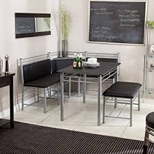 dining room table with bench seating. breakfast nook - black family diner 3 piece corner dining set enjoy the best kitchen room table with bench seating