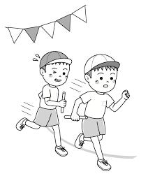 子供の運動会体育のイラストリレー 無料イラスト素材素材ラボ
