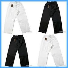 Ebay Pants Size Chart Details About New Proforce Gladiator Lightweight Karate Black Or White Martial Arts Pants Tkd