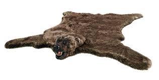faux fur bear rug stunning fake fur grizzly bear rug with head black bear faux fur rug