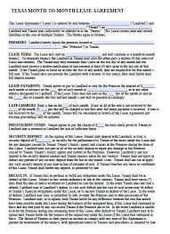 Hunting Rental And Lease Form. Printable Sample Rental Lease ...
