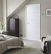 contemporary interior doors. Solid Wood Veeneer Door /Laminated Glossy White Oak Finished Contemporary Interior Design Doors