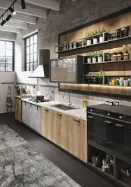 Kitchen: Industrial Rustic Kitchen With Wood Accents - Kitchen Designs