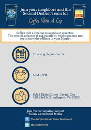 Coffee With A Cop Flyer Coffee With A Cop Coming To Crystal City Arlnow Com