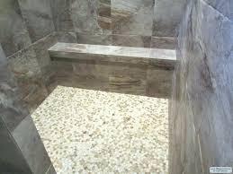 pebble tile shower floor black white river rock and home depot porcelain how to install on installing ceramic