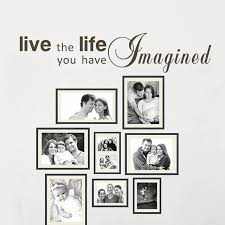 life inspirational quote live the life you have imagined home wall decal vinyl art on live the life you imagined wall art with life inspirational quote live the life you have imagined home wall