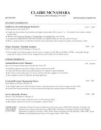 resume english sample resume templates for teaching jobs resume english sample teacher resume examples esl adyka avonysuesl restaurant english teacher resume help