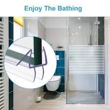 shower door bottom seal frameless