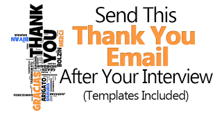 thank you note after interview sample send this thank you email after interview templates included