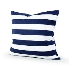 blue and white pillows. Plain White Amazoncom Lavievert Decorative Canvas Square Throw Pillow Cover Cushion  Case Navy Blue Stripe Toss Pillowcase With Hidden Zipper Closure 20 X Inches  For And White Pillows H