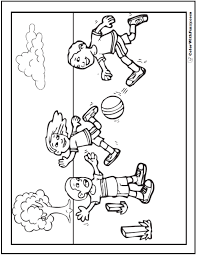 Printable coloring pages for kids !!! 121 Sports Coloring Sheets Customize And Print Pdf