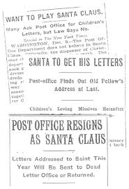 santa letters gateway to kindness image of the following newspaper headlines regarding postal policy want to play santa claus