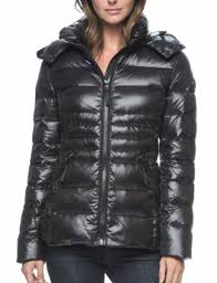 andrew marc womens down puffer jacket with detachable