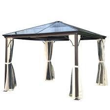 outdoor gazebo curtains x aluminum hardtop backyard gazebo with side curtains brown outdoor gazebo curtains home depot