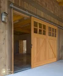 single sliding barn door for a garage door