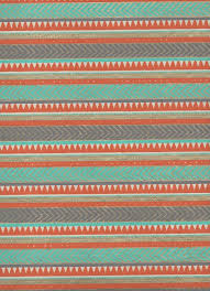 india egyptian rug orange light blue gold on white 22 x