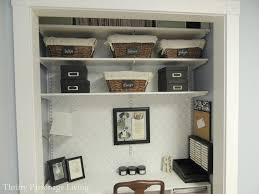 home office in a closet. Home Offices: Office Closet Beautiful Awesome Ideas Design In A