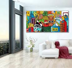 horizontal wall art living room wall