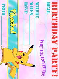 pokemon birthday party invitations templates pokemon birthday invitation wording