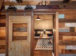 Rustic Home Office With Sliding Barn Door