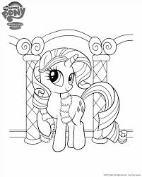 Small Picture Pages Little Pony Rainbow Dash Coloring Pages For Kids Printable