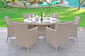 bali round garden dining set 4 dining chairs