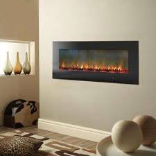 wall mount electic fireplace in black