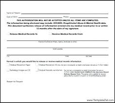 release of medical information template medical records release template medical records release form