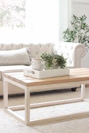 home and lifestyle blogger liz fourez shares the new coffee table she built for her living
