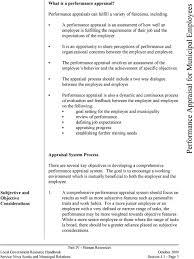 Performance Appraisal For Municipal Employees Pdf