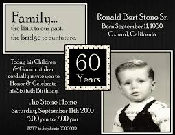 20 Ideas 60th Birthday Party Invitations Card Templates Birthday