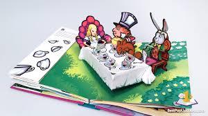 alice wonderland pop up book