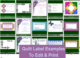 Virtual Quilt Labels Plus CD, Label Clipart for Quilter's (Value ... & Below is a small sampling of the quilt labels available Adamdwight.com