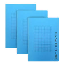 Artway A4 5mm Grid Graph Paper Book Pack Of 3 Amazon Co