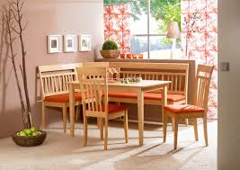 leather breakfast nook furniture. Floral Pattern Rug Under Rectangle Clear Coating Dining Table Leather Breakfast Nook Furniture .