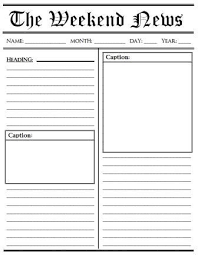 Newspaper Article Template Students Write Your Own Newspaper Article Template Magdalene