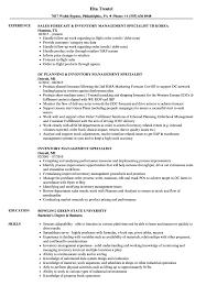 Logistics Management Specialist Resume Inventory Management Specialist Resume Samples Velvet Jobs Logistics 12