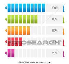 Creative Table Chart Creative Vector Illustration Of Columns Bar Chart
