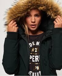 Superdry Uk Size Chart Women S Superdry Rookie Down Parka Jacket Womens Jackets Coats