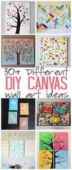 DIY Canvas Wall Art Ideas: 30+ canvas tutorials for adults - great ideas for