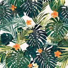Hawaiian Pattern Interesting Summer Colorful Hawaiian Seamless Pattern With Tropical Plants